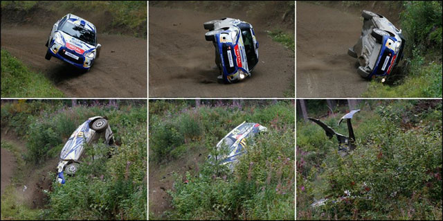 rallye Finlande WRC crash Citroen DS3