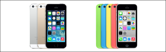 Apple iPhone 5S 5C couleurs