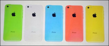 photo Apple iPhone 5c vert bleu rose jaune blanc