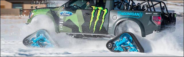 photo Ken Block Ford F150 RaptorTRAX Hoonigan Racing