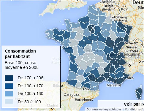 consommation Viagra departement France