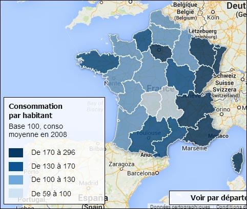 consommation Viagra region
