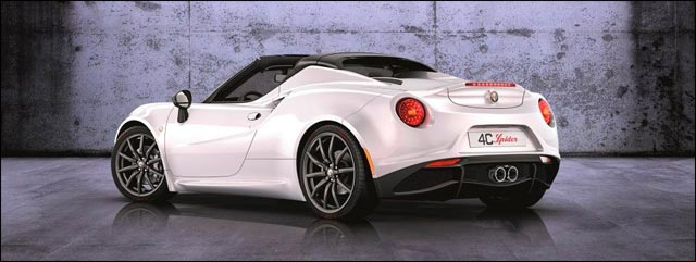 photo Alfa Romeo 4C Spider salon auto Geneve