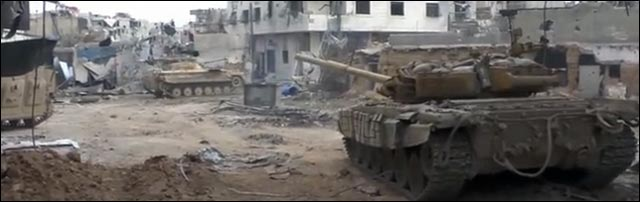 video HD GoPro tank char guerre Syrie