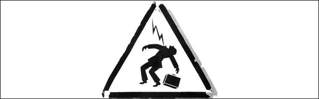 panneau danger travail