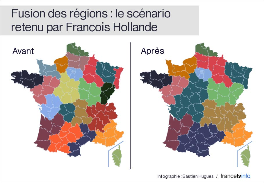 decoupage France regions Francois Hollande