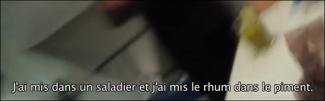 SNCF rhum piment alcool