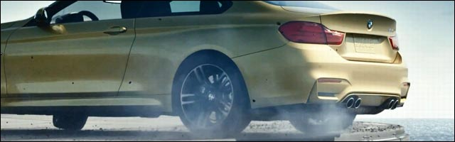 video HD BMW M4 gymkhana porte avion