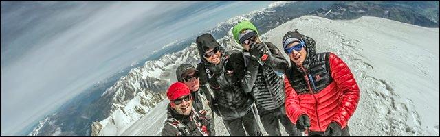 Kilian Kornet courir descente Mont Blanc video photo