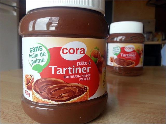 Nutella Cora sans huile de palme