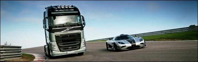 Koenigsegg One vs volvo camion
