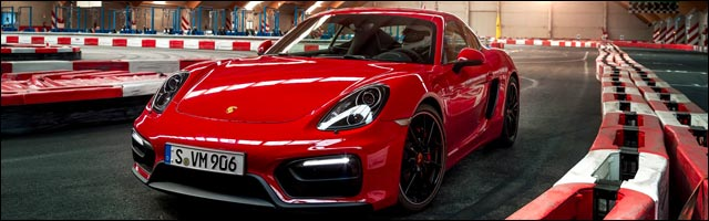 photo video Porsche Cayman GTS karting