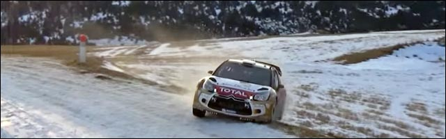 photo video sortie de route Citroen DS3 Sébastien Loeb Rallye WRC Monte Carlo 2015