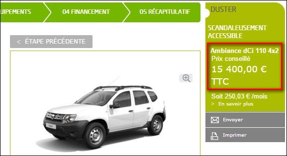 Dacia Duster moteur Renault dCi 110