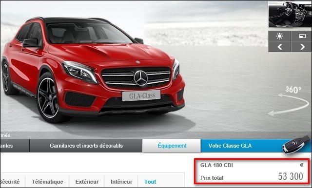 Mercedes GLA moteur Renault dCi 110 CLA Classe A 180CDI