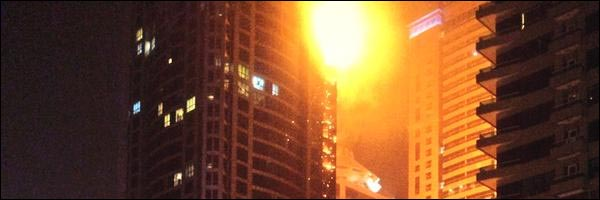 photo Dubai torch tower incendie