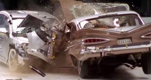 Crash test entre une voiture de 1959 et de 2009