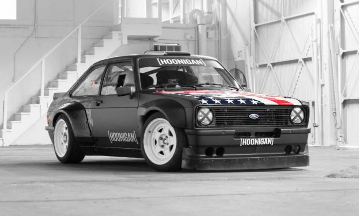photo Ken Block Ford Escort Hoonigan Gymkhana Donut Garage