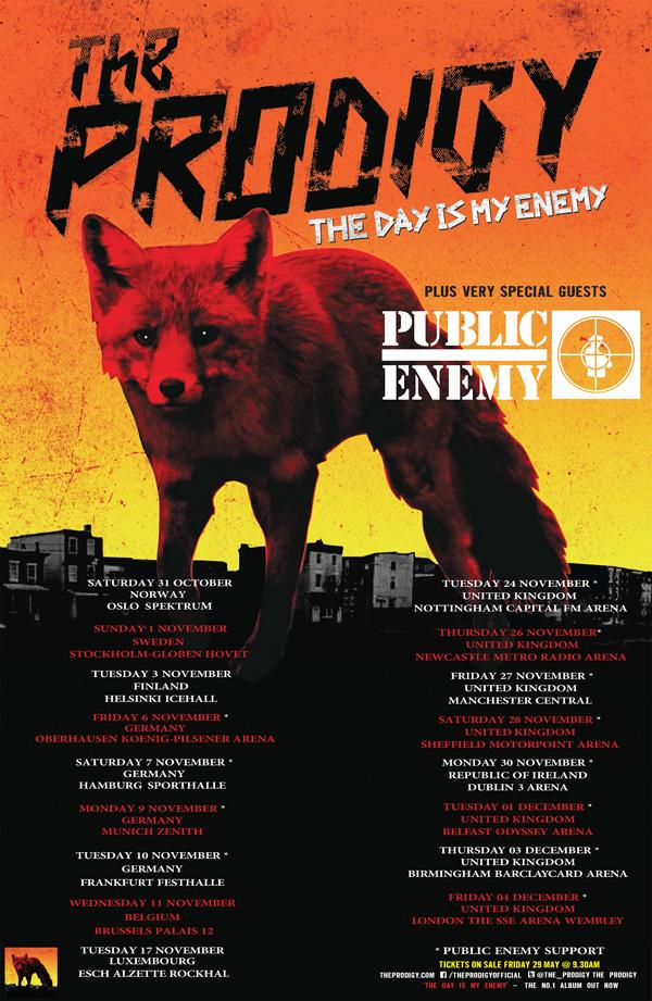 tournee europeenne Prodigy 2015