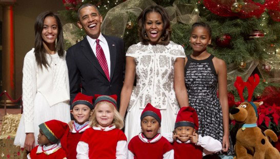 Noel fete de famille Obama