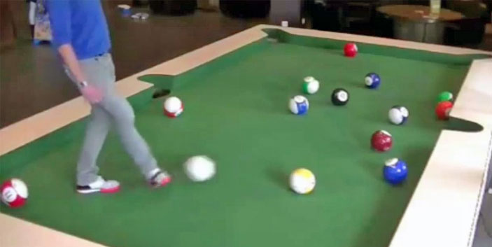 snookball snooker billard football