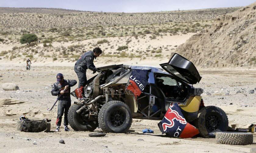 Accident de Sébastien Loeb au Dakar 2016