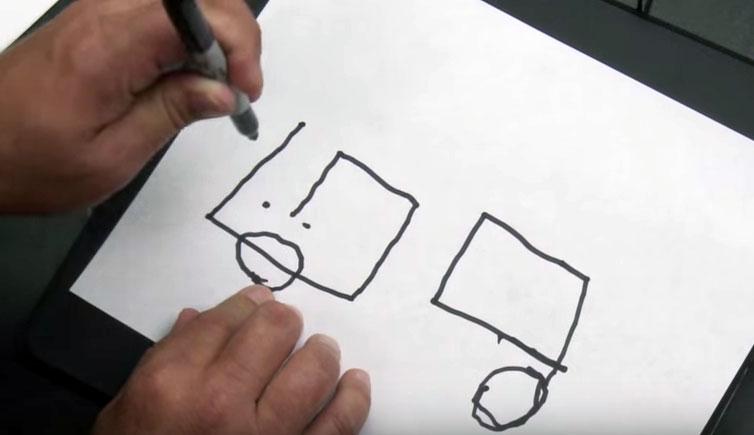 aveugle dessin