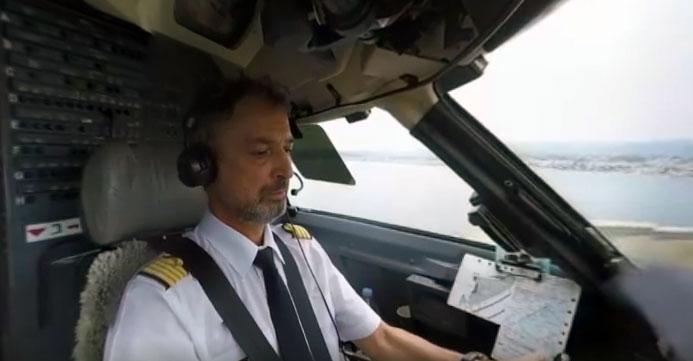video immersion 360 degres cockpit avion