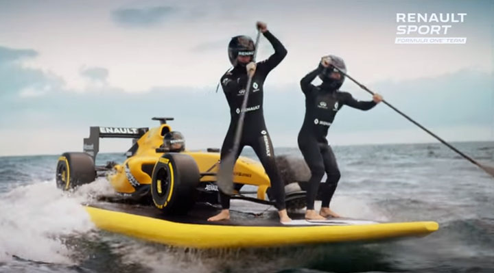 photo Renault Sport F1 surf paddle