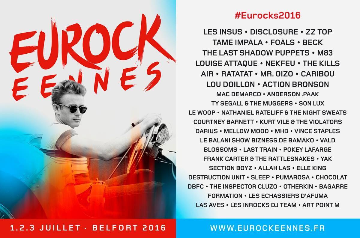 affiche programme officiel complet Eurockeennes 2016 Eurocks Belfort