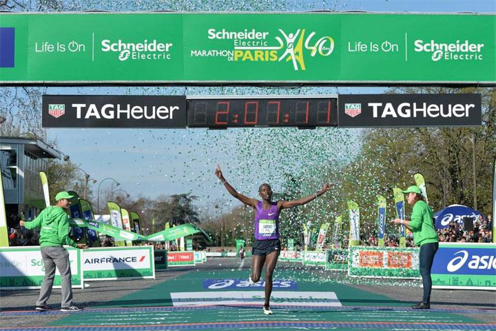 arrivee marathon paris 2016