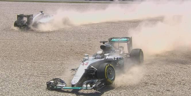 Formule 1 : accrochage entre Hamilton et Rosberg