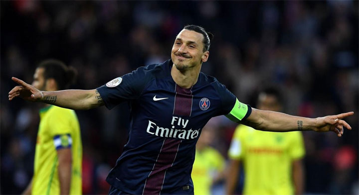 Zlatan Ibrahimovic PSG but