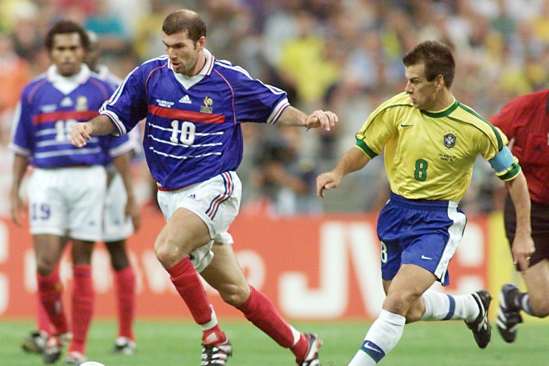 Zinedine Zidane 1998 face au Bresil