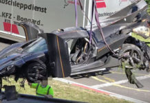 photo video Koenigsegg One 1 crash Nurburgring