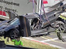photo video Koenigsegg One 1 crash Nurburgring