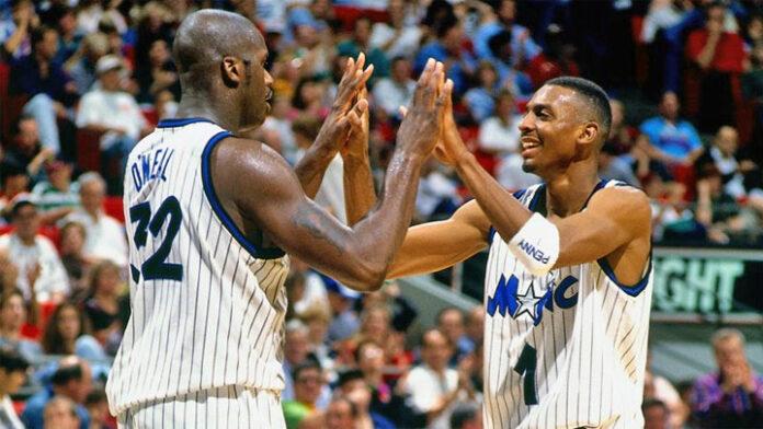 photo Shaquille O'Neal Anfernee Penny Hardaway Orlando Magic NBA basket