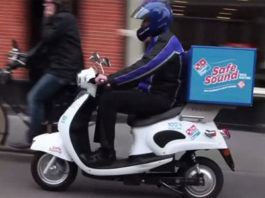 domino pizza scooter