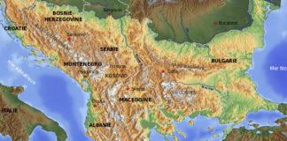 carte Europe Balkans relief