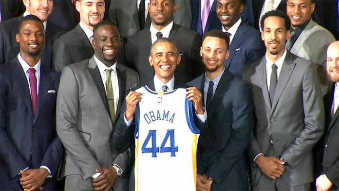 photo Barack Obama basket NBA