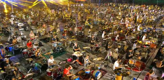 video rock 1000 musiciens Nirvana stade Italie