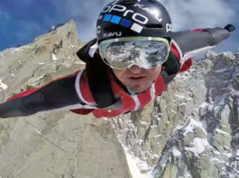 Marshall Miller saut en wingsuit Aiguille du Midi