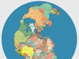 carte monde separation continents