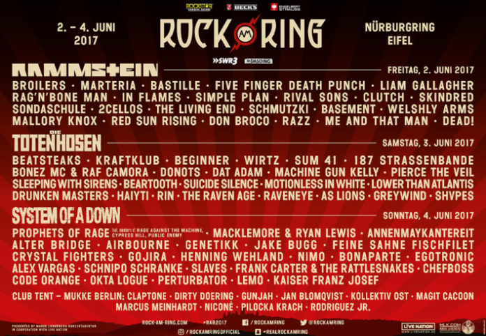 Rock am Ring 2017 RAR Rock im Park