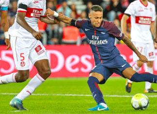 photo Neymar PSG foot but TFC Toulouse