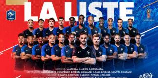Liste des 23 joueurs de l'Equipe de France de football pour le Mondial 2018