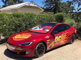 Flash McQueen Tesla cars
