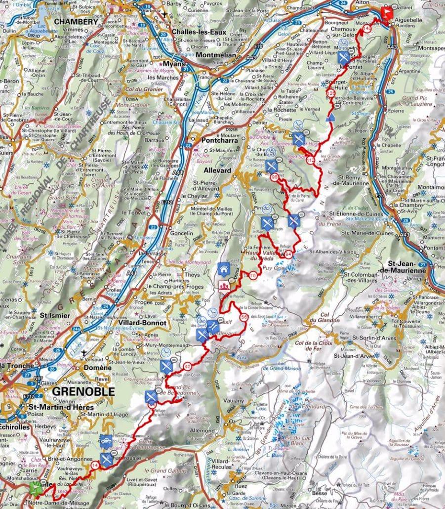 parcours echappee belle carte google maps