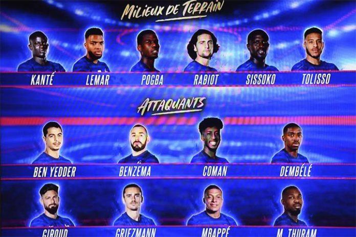 photo Equipe de France football Euro 2021